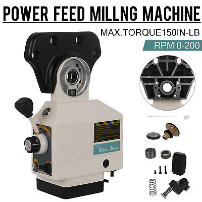 As-250 X Axis Power Feed Knee Mills For Bridgeport Milling Machine 0-200 Rpm