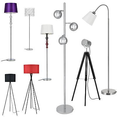 [lux.pro]® Stehleuchte Stehlampe Design Lampe Leuchte Standleuchte Chrom Boden