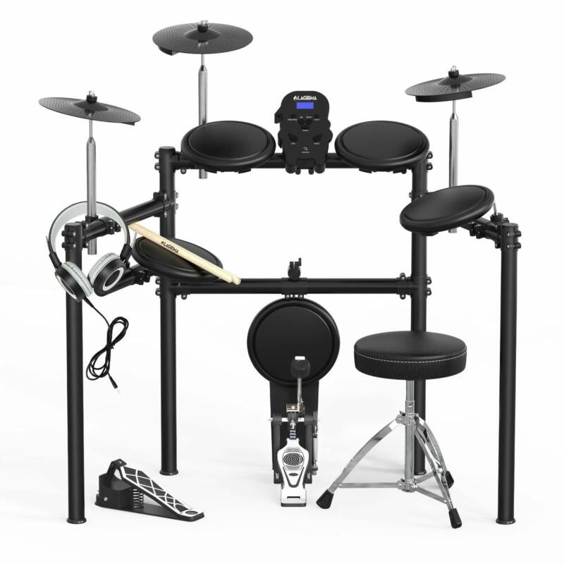 Electric Drum Set Electronic Kit w/5 Drums 3 Cymbals Drum Stick Solid Support