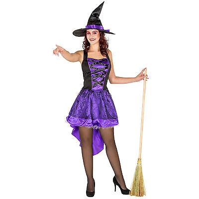 Sexy Hexe Kleid Kostüm Hexenkleid Karneval Fasching Halloween Damen