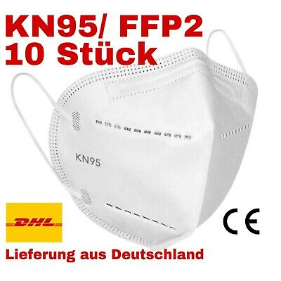 5 x Atemschutzmaske FFP2 Mundschutz Maske KN95 EN149 Zertifiziert Virenschutz