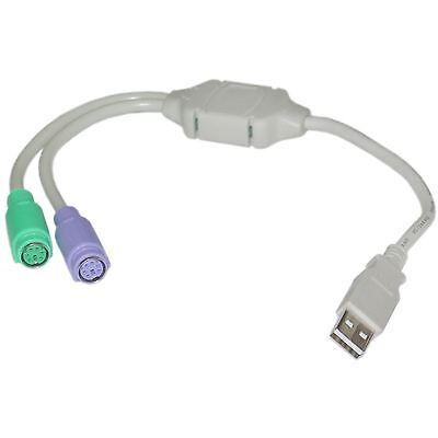 Mouse Keyboard PS/2 Female  to USB Male Adapter Converter /Dell /hp/