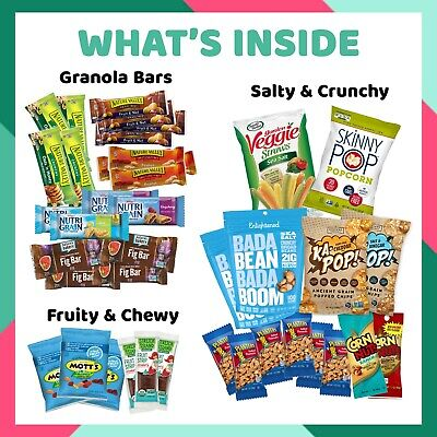 Care Crate Healthy Snacks Care Package for Adults and Kids 40 Snack Variety Pack