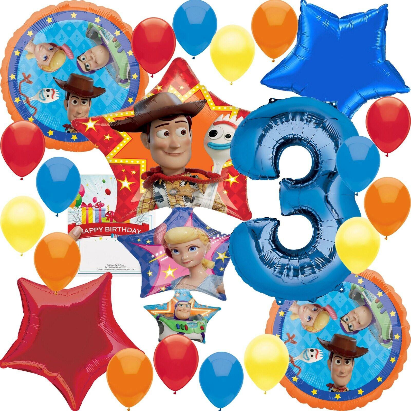 Disney Toy Story 4 Party Supplies 3rd Birthday Balloon Decor