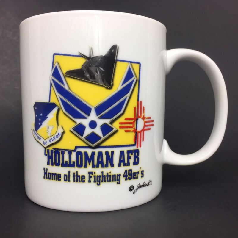 """USAF Air Force Holloman AFB """"Home of the Fighting 49ers"""" Coffee Mug Cup"""