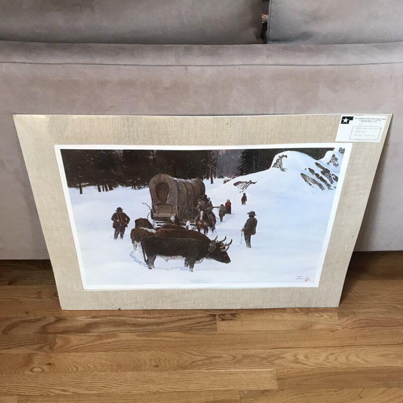 "Vintage ""Turning Back At Red Lake Hill"" Print Robert Blair American Western"