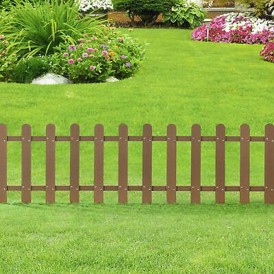 [neu.holz] Picket Garden Fence Panel WPC Wood Plastic Composite 200x60 cm Brown