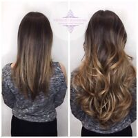 Full head of Russian Hair Extensions from $325