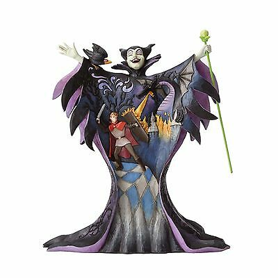 Jim Shore Disney Traditions Malevolent Madness Maleficent with Scene 4055439 NEW