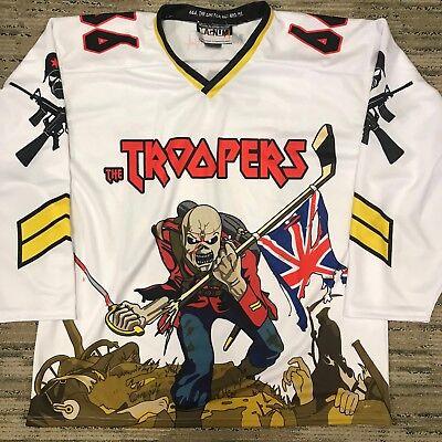 Custom Iron Maiden Eddie Hockey Jersey 666 The Beast Large White