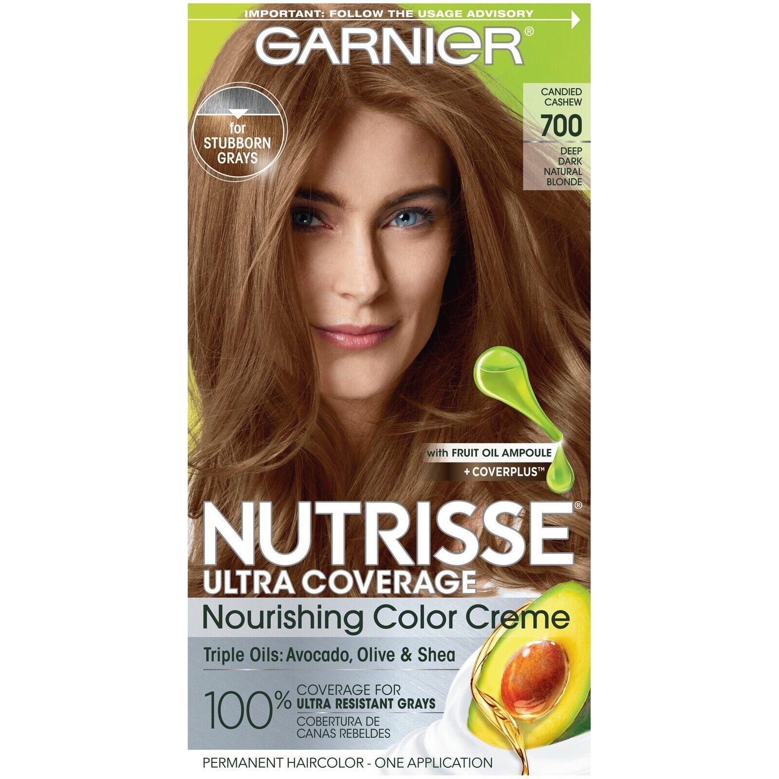 Garnier Nutrisse Farbe Creme Permanent Haarfarbe 700 Tief Dark Naturblond