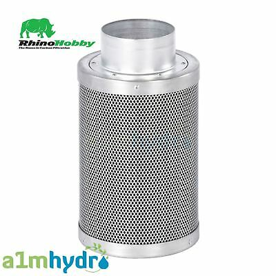 Rhino Hobby Carbon Filter 4 Inch 100 X 300 mm 350M3/Hr Hydroponics