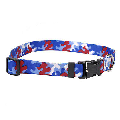 NEW Red & Royal Blue Dog and Cat Collar in Team Spirit Camo by Yellow Dog