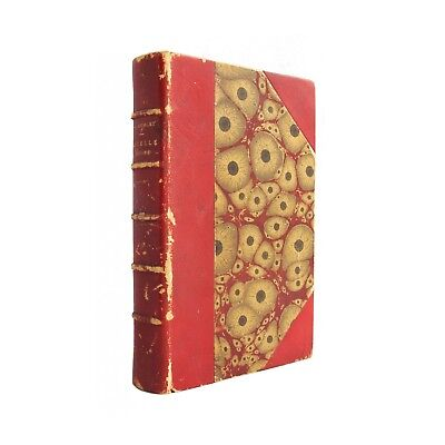 Cruelle Enigme - antiquarian 1893 French novel in decorative red leather binding](Decorations In French)