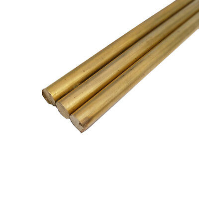Us Stock 4pcs 6mm0.24 Dia. 250mm9.84 Long H62 Brass Bar Round Rod Cylinder