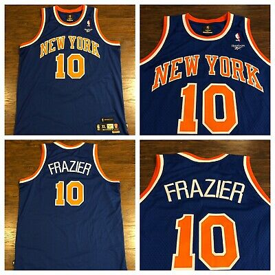 Reebok Hardwood Classics NBA New York Knicks Walt Frazier Basketball Jersey XL