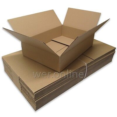 5 x Long Shallow Postal Packing Mailing Storage Cardboard Boxes 18x12x4