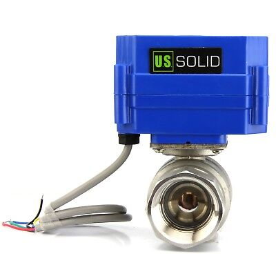1 Motorized Ball Valve Stainless Steel Electric Valve 9v 12v To 24v Dc 5 Wire