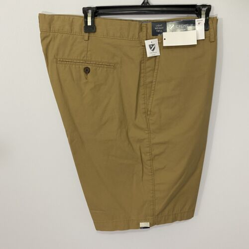 """Cremieux Mens Hampton Khaki Shorts 40 Flat Front 9"""" Light Weight Twill Chino Clothing, Shoes & Accessories"""