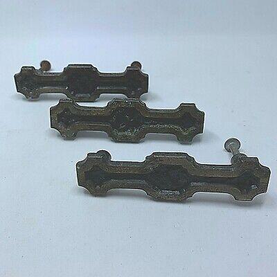"""Amerock 202 Drawer 1950 Pull Handle Hammered Gothic Dark Brass 3/"""" Centers 1 Vtg"""