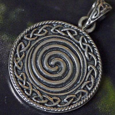 Peter Stone keltische Lebensspirale 925Silber unendliches Knotwork Druiden Magie