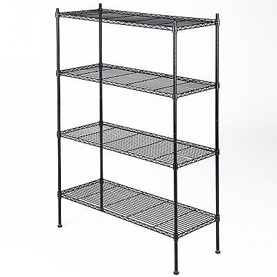 "55""x36""x14"" 4 Tier Wire Shelving Rack Heavy Duty Layer Steel Shelf Adjustable"