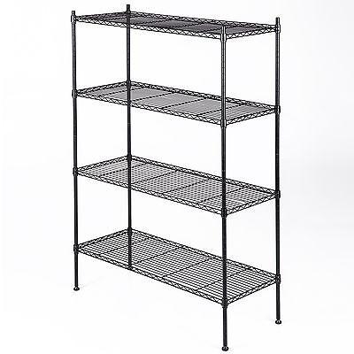 55x36x14 4 Tier Wire Shelving Rack Heavy Duty Layer Steel Shelf Adjustable