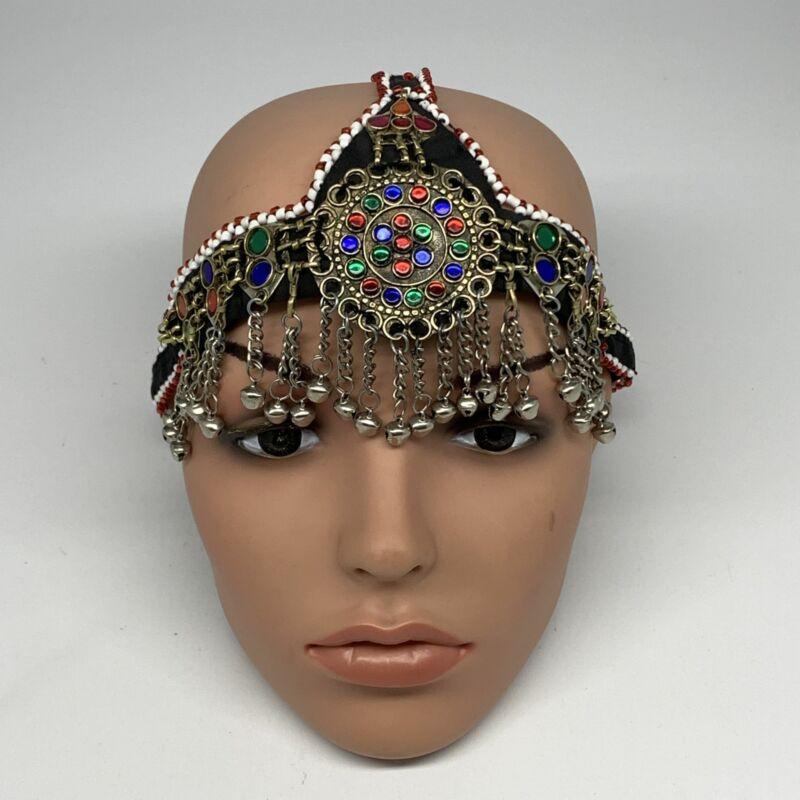 76.1g, Kuchi Headdress Headpiece Afghan Ethnic Tribal Jingle Bells @Afghanistan,