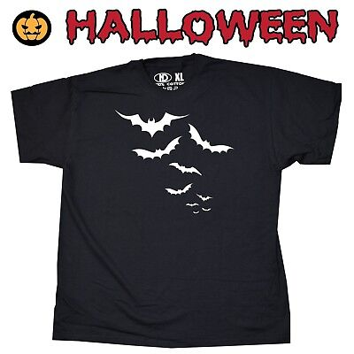 Halloween Bats Mens Womens T Shirt Spooky Scary Swarm Cloud Coven Witch Mummy