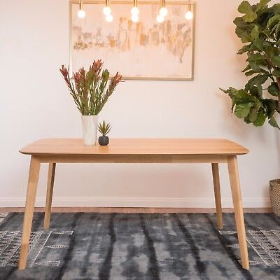 Anne Natural Oak Finish Wood Dining Table ()