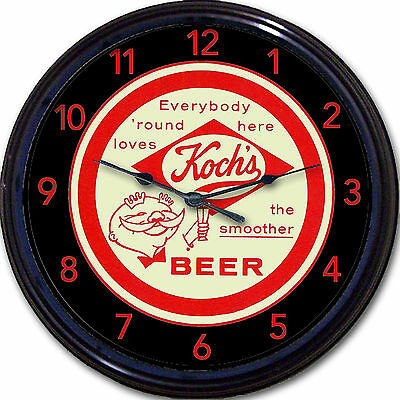 Kochs Beer Coaster Wall Clock Dunkirk NY Koch