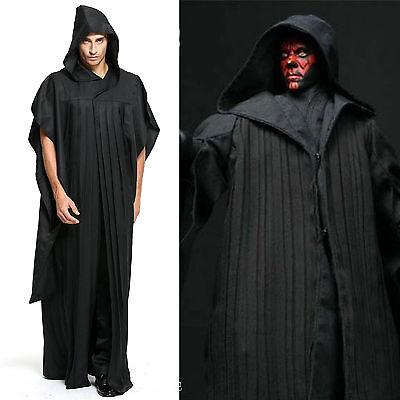 Herr Sith Kostüm (Star Wars Sith Darth Maul Tunic Umhang Unisex Herren Halloween Cosplay Kostüm)