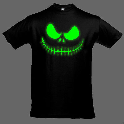 Halloween Kinder T-Shirt Grusel Maske leuchtet im Dunkeln Kostüm Junge (Halloween T Shirt Kostüme)