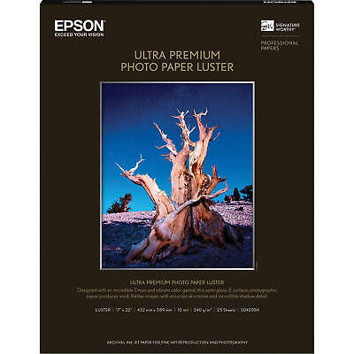 - Epson Ultra Premium Photo Paper LUSTER (17x22 Inches, 25 Sheets) (S042084)