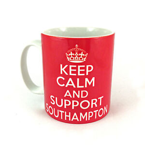 NEW-KEEP-CALM-AND-SUPPORT-SOUTHAMPTON-GIFT-MUG-CUP-THE-SAINTS-FC-RETRO-CARRY-ON