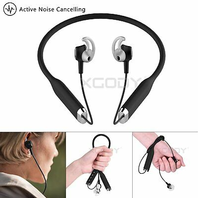 Active Noise-Cancelling Wireless In-Ear Headphones Bluetooth 4.2 Stereo Earphone
