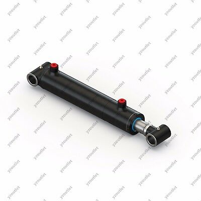 2.5 Bore 30 Stroke Hydraulic Welded Cylinder - Cross Tube