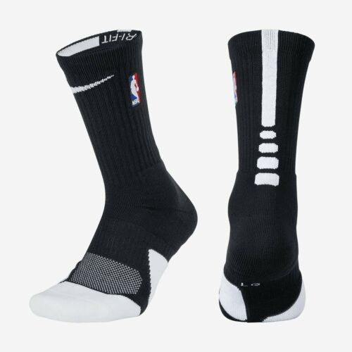 Details about   NBA Nike Elite 1.5 Cushioned Crew Black WHT Basketball Socks MSRP $18 SX5867-010