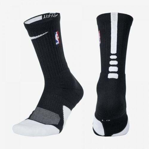 NBA Nike Elite 1.5 Cushioned Crew Black White Basketball ...