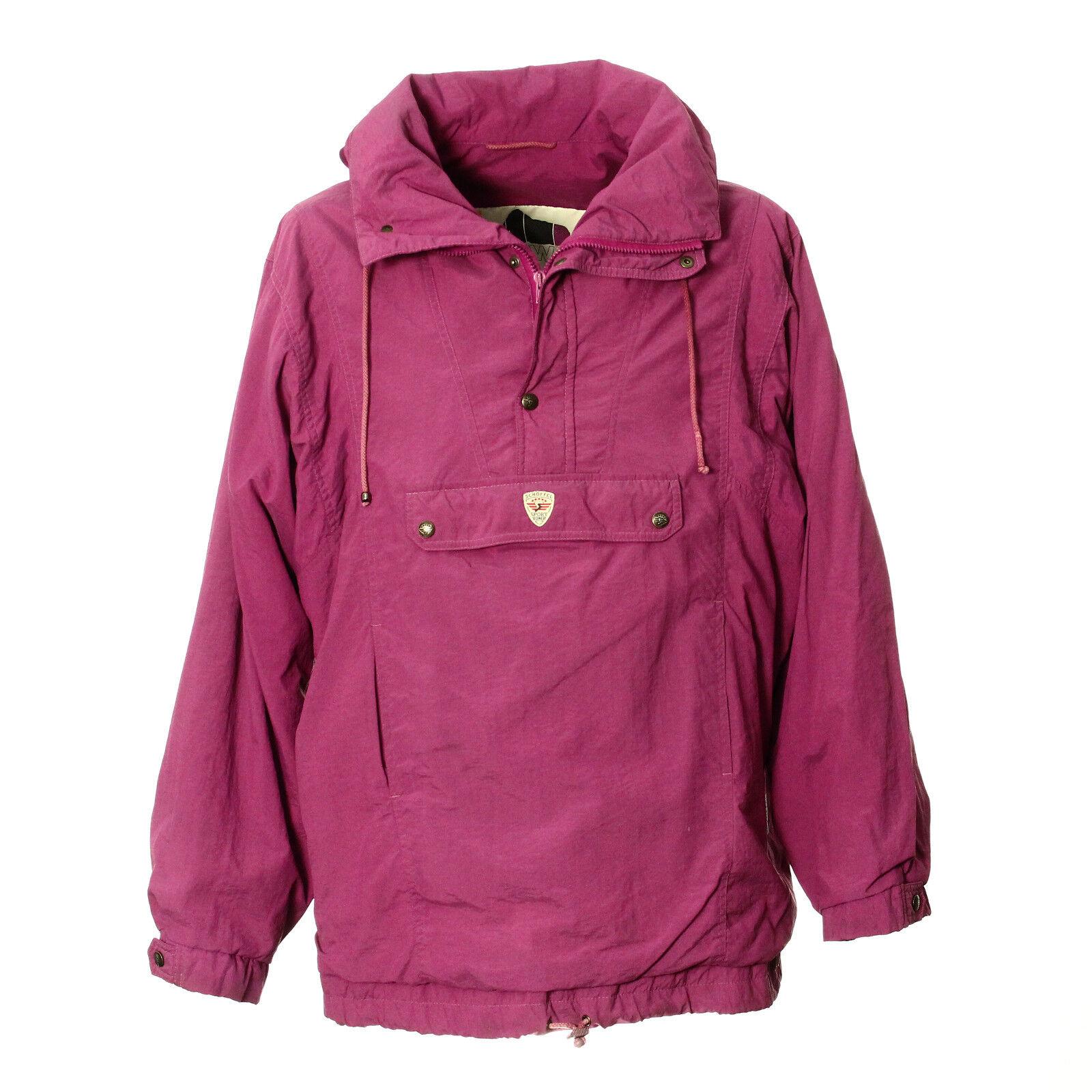 noch eine Chance online Shop wie man serch Details zu Schöffel Jacke Größe 52 Kapuze Stehkragen Lila Half Zip Schoffel  Vintage Retro