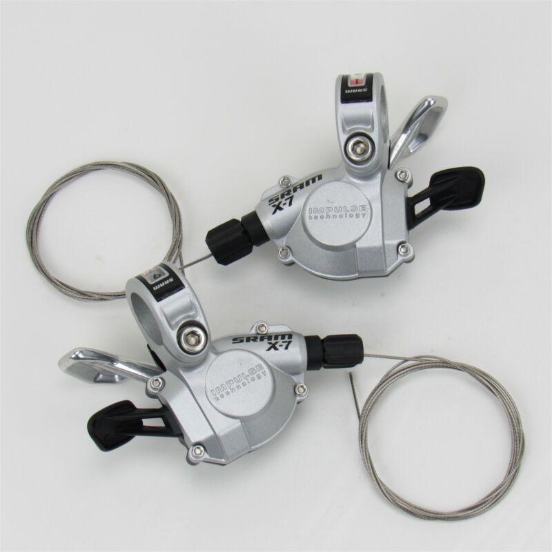 SRAM X-7 Trigger Shifters, 3x9 Speed, Impulse Technology