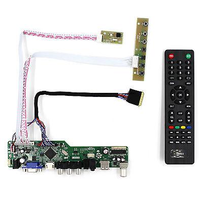 TV/HDMI/VGA/AV/USB/AUDIO LCD Control Board For B156HW01  LP173WF1 1920x1080 LCD
