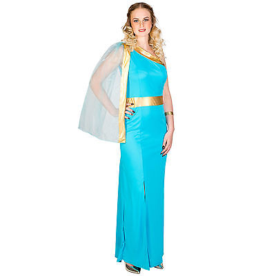 Griechische Göttin Kostüm für Damen Griechin Karneval Römerin Verkleidung Kleid
