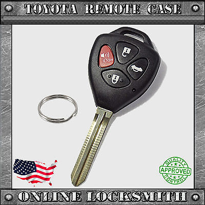 New Remote Key Replacement Case Shell + 4 Button Pad Keyless Fob Repair Fix 31B  4 Button Pad