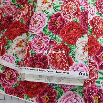 Garden Quilting Fabric - Cotton Quilting Fabric English Garden, Peonies Flowers By FreeSpirit ~1/2 Yard