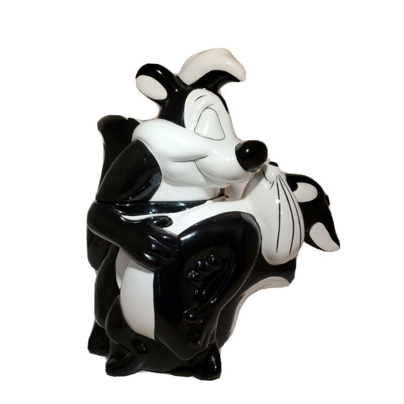 Vintage Warner Bros 1996 Pepe Le Pew Penelope Looney Tunes Cookie Jar WB Ceramic