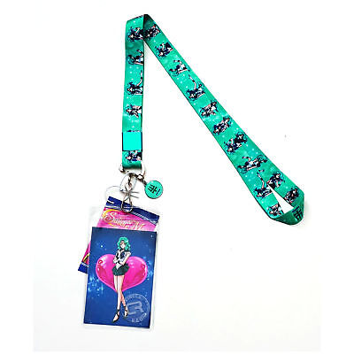 Sailor Moon S Sailor Neptune Lanyard with ID Badge Holder & Metal Charm Official