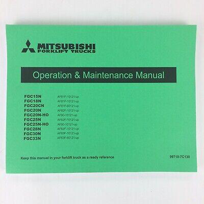Mitsubishi Forklift Trucks 99710-7c130 Operation Maintenance Manual Fgc15n