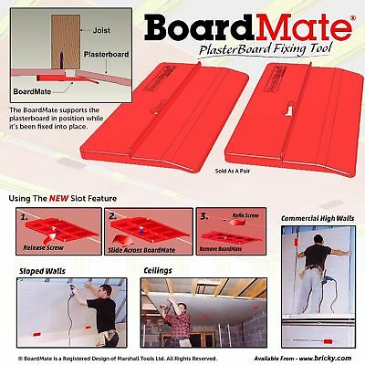 Boardmate- Drywall Installation Tool Supports The Board In Place While Securing