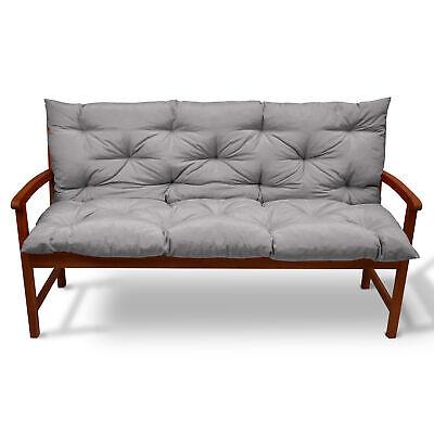 Beautissu Garden Bench Pad Cushion 150 x 50 x 50 cm 3 Seater Light Grey